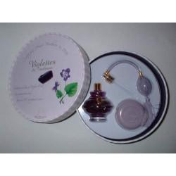 """Coffret """"carton à chapeau"""" Violette de Toulouse"""
