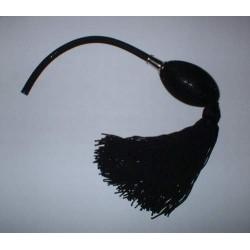 Poire de rechange noire pour vaporisateur à monture chromée