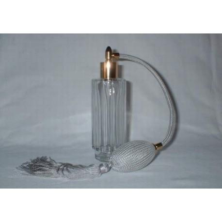 Flacon vaporisateur à poire en verre blanc