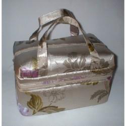 Vanity Case décor or et fleurs violettes