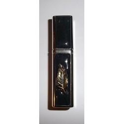 Flacon diffuseur de sac chromé décor feuille