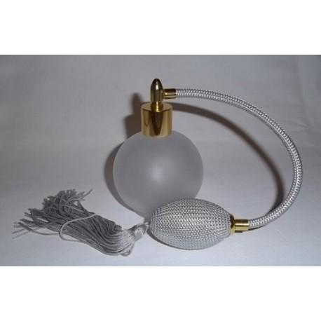 Flacon vaporisateur verre blanc mat