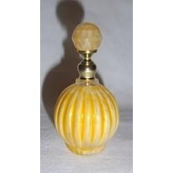 Flacon en verre décoré jaune