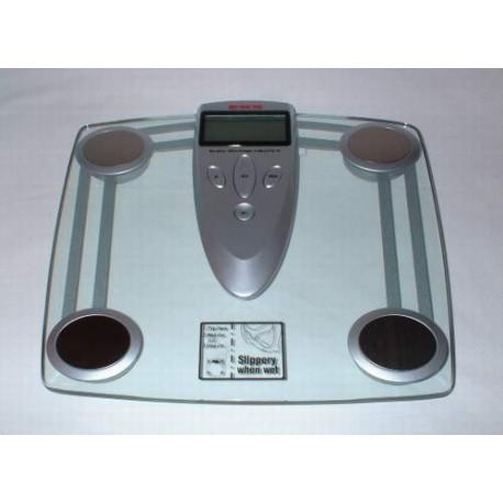Pèse personne électronique en verre avec analyseur des taux de g