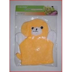 Gant de toilette ours jaune