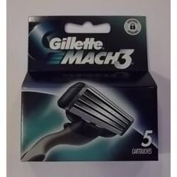 Lames de rasoir GILLETTE Mach3 paquet de 5