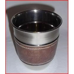 Gobelet en métal chromé