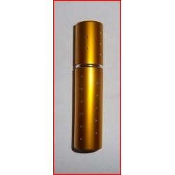 Flacon diffuseur de sac jaune métallisé et décoré de strass