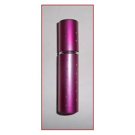 Flacon diffuseur de sac rose métallisé et décoré de strass