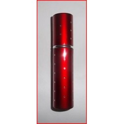 Flacon diffuseur de sac rouge métallisé et décoré de strass