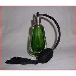 Flacon vaporisateur à poire en cristal vert