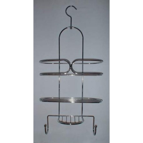 Serviteur de douche en métal chromé