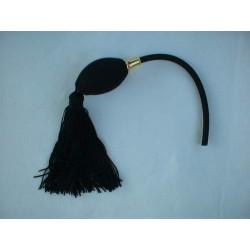 Poire de rechange noire pour vaporisateur à monture dorée