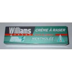 """Crême à raser Williams pour blaireau """"Mentholée"""""""