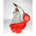 Flacon vaporisateur à parfum poire rouge