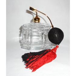 Flacon vaporisateur à parfum poire rouge et noire