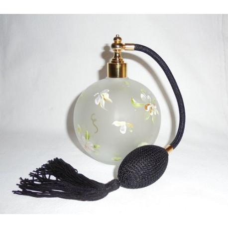 Flacon vaporisateur décor fleuri