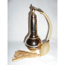 Flacon vaporisateur en laiton doré