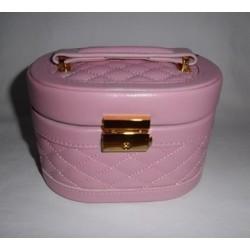 Coffret à bijoux rose