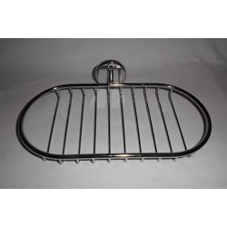 Etagère de salle de bain en métal chromé