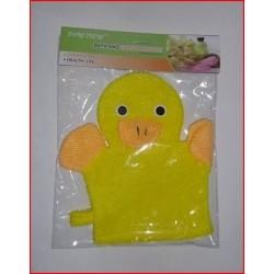 Gant de toilette canard jaune